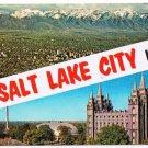 Salt Lake City Utah Postcard Big Letter Multi View Greetings