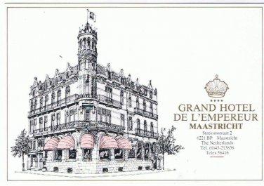 Maastricht Holland  Postcard Grand Hotel De L'Empereur Best Western