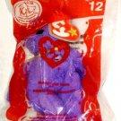 McDonalds 2004 TY Beanie Baby Grimace Bear # 12 Original Package NEW