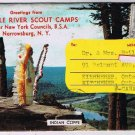 New York Postcard Brooklyn Boy Scouts Camps Ten Mile River Post Letter 1963