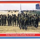 Enduring Freedom Picture Card #65 9-11 Army Paratroopers Aircraft Topps 2001