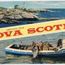 Nova Scotia Postcard Lighthouse Tuna Fishing