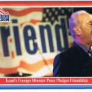 Enduring Freedom Picture Card #12 Israel's Foreign Minister Peres Topps 2001