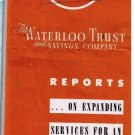 Vintage Insurance Brochure & Map 1961 Waterloo Trust & Savings Picture BOD