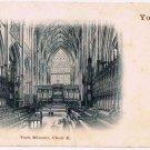 England Postcard York Minster Choir E