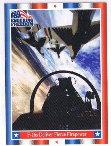 Enduring Freedom Picture Card #61 F-16s Deliver Fierce Firepower Topps 2001