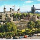 England Postcard Tower of London and Tower Bridge
