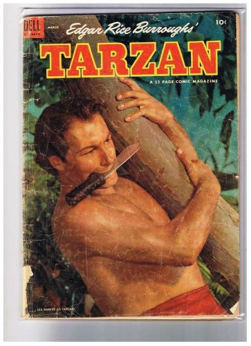 Dell Comic Book Tarzan 54 Edgar Rice Borroughs Lex Barker GD