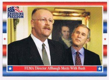 Enduring Freedom Picture Card #42 9-11 FEMA Director Joe Allbaugh Topps 2001