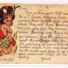 Scotland UK Comic Postcard Valentine's Scottish Message Series