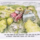 Comic Scotland Postcard Besley Meeting A Soul On The Road