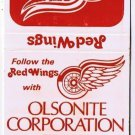 Matchbook Cover Detroit Red Wings 1973-74 Olsonite Corporation