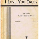 I Love You Truly Sheet Music Carrie Jacobs-Bond
