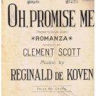 Oh Promise Me Sheet Music Romanza Scott de Koven