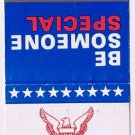 Matchbook Cover Go Navy  Be Someone Special