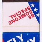 Matchbook Cover Fly Navy  Be Someone Special Naval Air Stations