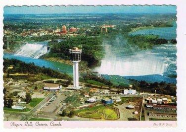 Niagara Falls Ontario Postcard Rainbow Bridge Carillon Tower