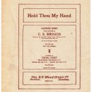 Hold Thou My Hand Sheet Music Sacred Song C Briggs
