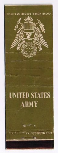 Matchbook Cover United States Army