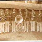 Music Postcard Brass Band 1930s-40s World War II Era Sepia RPPC