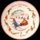Wedgwood Beatrix Potter Peter Rabbit Christmas Plate 99