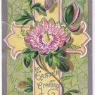 Berlin Ontario Postmark 1909 Easter Postcard Embossed Cross Lily Pad