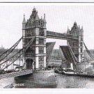 England Postcard London Tower Bridge Paddlewheel Ship