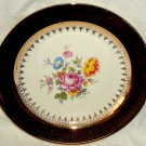 "Nautilus Collector Plate Floral Bouquet Lace Pattern 22k Gold Trim 10"" E53NB USA"