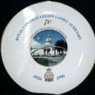 Royal Canadian Legion Ladies Auxiliary Plate Kingston City Hall  Ontario Command