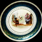 ANTIQUE HAND PAINTED MZ AUSTRIA DEATH KING LEAR PLATE