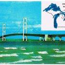 Mackinaw City St Ignace Michigan Postcard Mackinac Bridge
