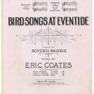 Bird Songs At Eventide Sheet Music Barrie Coates