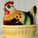 VINTAGE NAPCO Hen On Nest Salt Pepper Japan