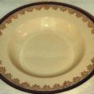 "Royal Ivory Rimmed Soup Bowl John Maddock Royal Blue 7 3/4"""