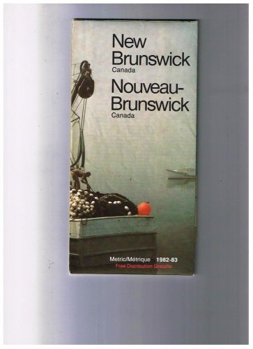 New Brunswickl Road Map 1982 Cover Fishing Boat Misty Morning