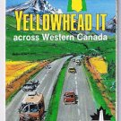 Yellowhead It Western Canada Road Map 1989 Cover Canada Games Saskatoon Logo