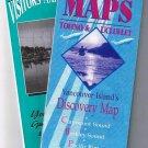 Vancouver Island Tourist Map (2) 1996 Saanich Peninsula Long Beach Tofino