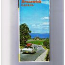 New Brunswick Tour Map 1969 Cover Highway Car Canoe