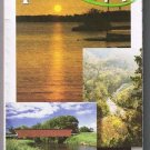 Iowa Road Map 2001 Cover Sunset Landmarks