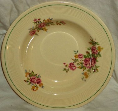 """Wood's Ivory Ware Rimmed Soup Bowl Made in England 1930s-40s 9"""""""