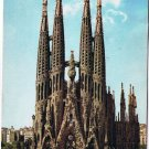 Barcelona Spain Postcard Holy Family Temple