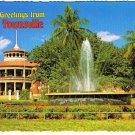 Australia Postcard Townsville Memorial Fountain Anzac Park Strand Customs House