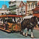 Florida Postcard Disney Good Old Days Horse Drawn Streetcar Main Street