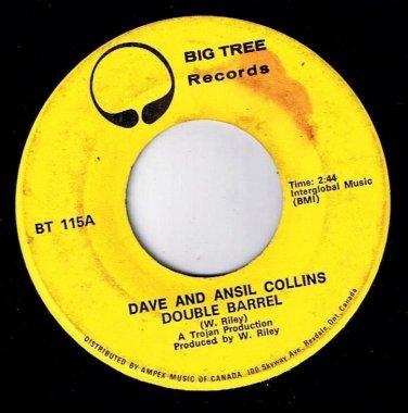 Dave & Ansil Collins Double Barrel 45 rpm Double Barrel Instrumental Big Tree