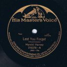 Harold Harvey Lest You Forget 78 rpm Three O'Clock In The Morning