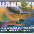 Indiana Road Map 2001 Cover Airplane Train