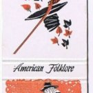 RIP VAN WINKLE Orange Matchbook Cover AMERICAN FOLKLORE Match Book Diamond