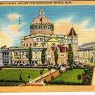 Boston Massachusetts Postcard Christian Science Church