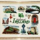 Elgate Ceramics Historical Ireland Ash Tray Blarney Cashel Harp