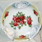Antique Reticulated Roses White Feather Lustre Plate